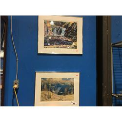 1 FRAMED J.E.H. MACDONALD PRINT &  1 FRAMED TOM THOMSON PRINT