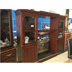 "ENTERTAINMENT WALL UNIT WITH ADJUSTABLE WIDTH (APPROX 91"" - 102"" WIDE)"