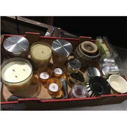 ASSTD BOX OF SCENTED CANDLES/TEALIGHT CANDLES & BURNERS