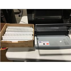 GBC COMBBIND C75 & PART BOX  OF COMBBIND SPINES - WHITE