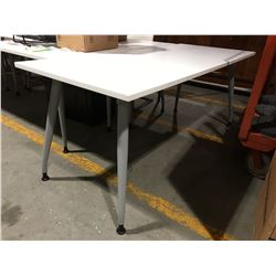 "WHITE OFFICE TABLE 29.5"" X 71"" - A"