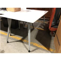 """WHITE OFFICE TABLE 29.5"""" X 71"""" - B"""