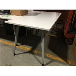 """WHITE OFFICE TABLE 29.5"""" X 71"""" - C"""