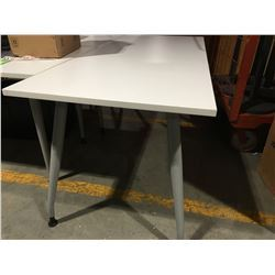 "WHITE OFFICE TABLE 29.5"" X 71"" - D"