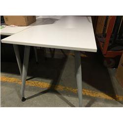 "WHITE OFFICE TABLE 29.5"" X 71"" - E"