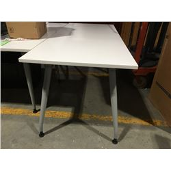 WHITE OFFICE TABLE 29.5  X 71  - F