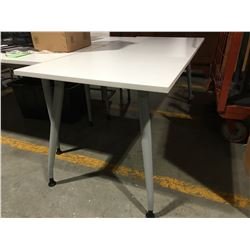 "WHITE OFFICE TABLE 29.5"" X 71"" - G"