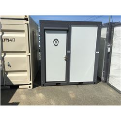 BASTONE 110V PORTABLE TOILET WITH SHOWER (APPROX 6' X 7' X 7.5')