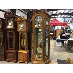 BRITON DISPLAY CASE STYLE GRANDFATHER KEY WOUND TIME & STRIKE CLOCK - MADE IN CHINA