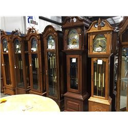 EMPEROR GRANDFATHER CLOCK (FAIRHOPE ALABAMA) TRIPLE CHIME - SILENT OPTION - MOON DIAL -