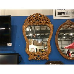 "WOODEN WALL MIRROR (APPROX 40"" X 25"")"