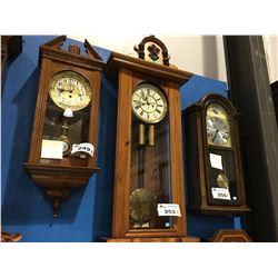 GUSTAV BECKER VIENNA REGULATOR - 2-WEIGHT WALL CLOCK - CIRCA 1920'S