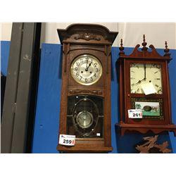 GERMAN TIME & STRIKE (KIENZLE) CIRCA 1890'S