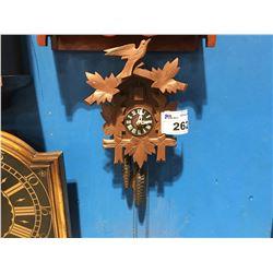 GERMAN 2 WEIGHT CUCKOO CLOCK - CIRCA 1950'3