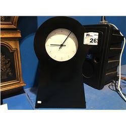 BLACK MODERN SHELF CLOCK