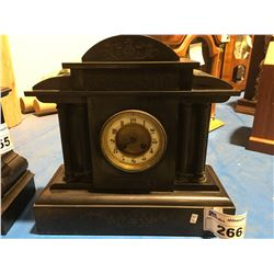 1900'S SLATE SHELF CLOCK - FRENCH MOVEMENT - REQUIRES SERVICE