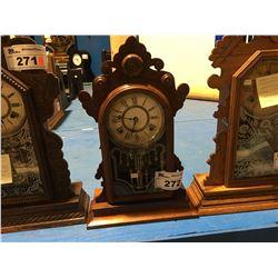 UNBRANDED SHELF CLOCK - TIME & STRIKE - CIRCA 1890'S
