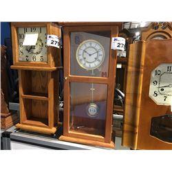 SOLD MAHOGANY CASE - GERMAN MOVEMENT - MILL BAY CLOCKWORKS - TIME & STRIKE - CIRCA 1990'S