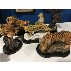 HUNTER ARTS LEOPARDS X 2,TIGERS X 2,TIGER HEAD & COUGAR HEAD