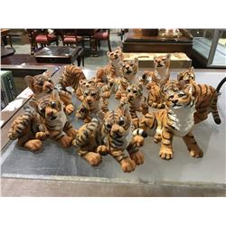 GROUP OF TIGER FIGURINES (APPROX 12 PCE)