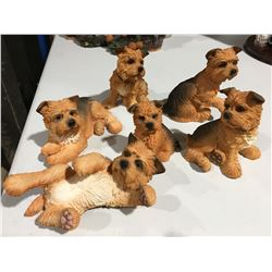 GROUP OF SCOTTIE DOG ORNAMENTS (APPROX 6 PCE)
