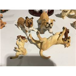 GROUP OF 4 DOG ORNAMENTS (VARIOUS BREEDS)