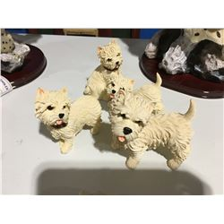GROUP OF 4 SCOTTIE DOG ORNAMENTS