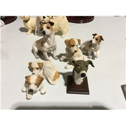 GROUP OF TERRIER DOG ORNAMENTS (APPROX 6 PCE)