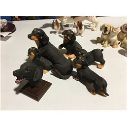 GROUP OF 5 DOG ORNAMENTS