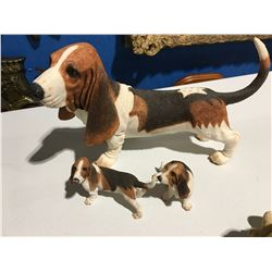 GROUP OF 3 BEAGLE ORNAMENTS