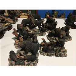 GROUP OF BEAR FIGURINES (APPROX 8 PCE)