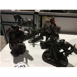 GROUP OF VARIOUS COWBOY/HORSE ORNAMENTS (APPROX 6 PCE)