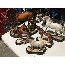 GROUP OF 5 HORSE ORNAMENTS