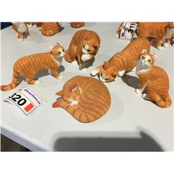 GROUP OF 4 ORANGE TABBY CAT FIGURINES - A