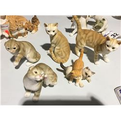 GROUP OF 5 TABBY CAT FIGURINES - A