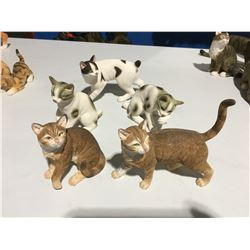 GROUP OF 5 CAT FIGURINES