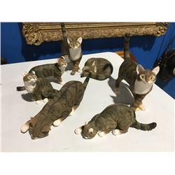 GROUP OF 7 CAT FIGURINES
