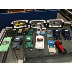 DIE-CAST SMALL MODEL CARS - VARIOUS MODELS (APPROX 18 PCE)
