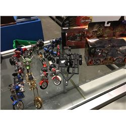 SMALL MOTORCYCLE MODELS (VARIOUS MODELS) - APPROX 16 PCE