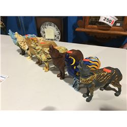"""GROUP OF 7 ASSTD """"CALL OF THE WOLF"""" FIGURINES"""