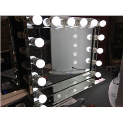 "FONTAINEBLEAU 14 LED LIGHT VANITY MAKEUP MIRROR - (BEVELED MIRROR FINISH) - 31.5"" X 26"" - B"