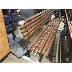 PARK STYLE APPROX 7' LONG ALUMINUM WOOD GRAIN BENCH - C