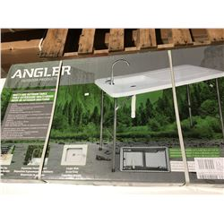 """ANGLER OUTDOOR PRODUCTS MULTI-USE OUTDOOR TABLE WITH SINK - 44""""L X 23""""W X 32.5""""H - QUICK CONNECT"""