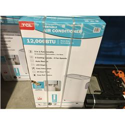 TCL PORTABLE AIR CONDITIONER 12,000 BTU GOOD FOR 550 SQ FT ROOM, 3 IN 1 FUNCTIONALITY, 3 COOLING
