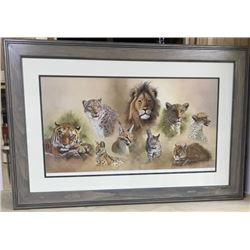 Framed Print: CATS OF THE WORLD by Clive Kay
