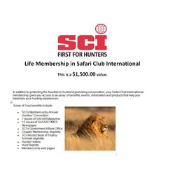 Life Membership to Safari Club International
