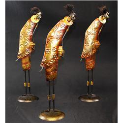 Metal African Ladies (set of 3)