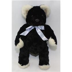 Sheared Rex Black Teddy Bear (Mr. Bear)