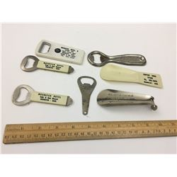 ADVERTISING BOTTLE OPENERS AND SHOEHORNS HUMBOLDT MUENSTER CANADIAN PACIFIC HOTELS