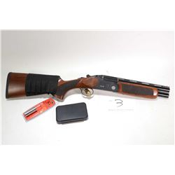 "Non-Restricted shotgun Lazer Arms model X012, 12 gauge, 3"" two shot hinge break, w/ bbl length 11 3/"